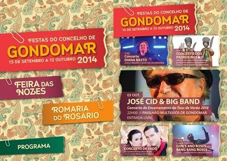 Programa completo das Festas de Gondomar 2014