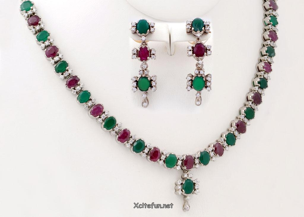 Fancy Emerald Jewelry Collection For Eid 2012