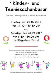 Plakat für den Herbstbasar 2017