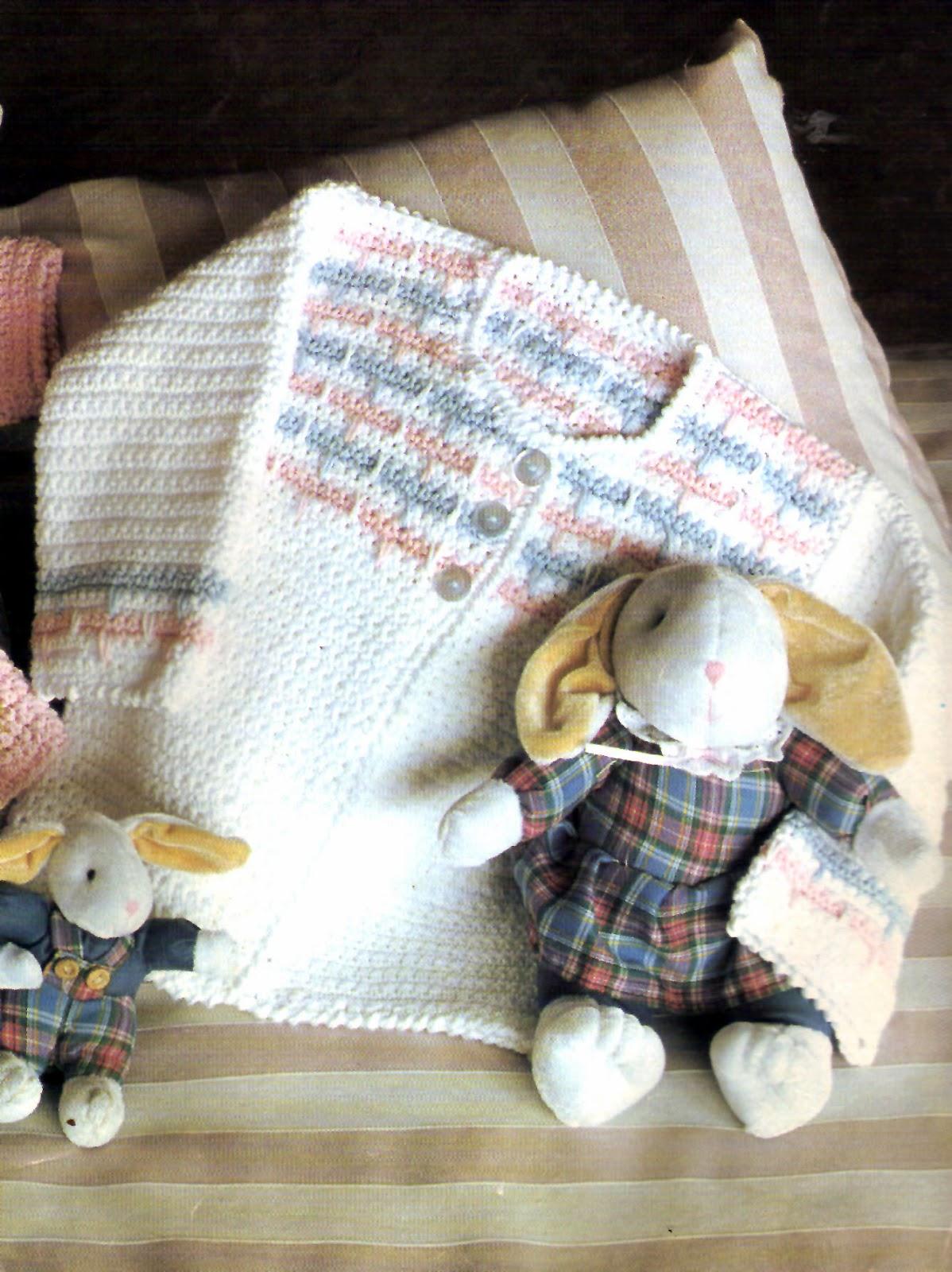 tejidos artesanales en crochet: saquito blanco para bebe tejido en ...