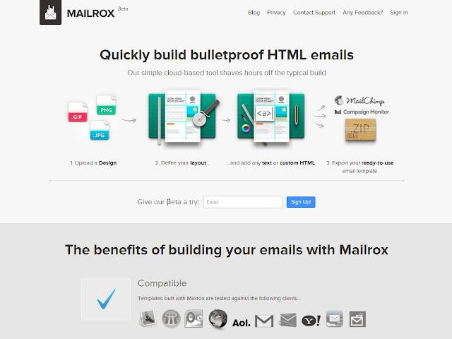 Iscomigoo Webdesign découvert: Mailrox, obtenez vos fichiers HTML et CSS à partir de vos mockups