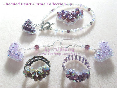 Beaded_heart_purple_collection