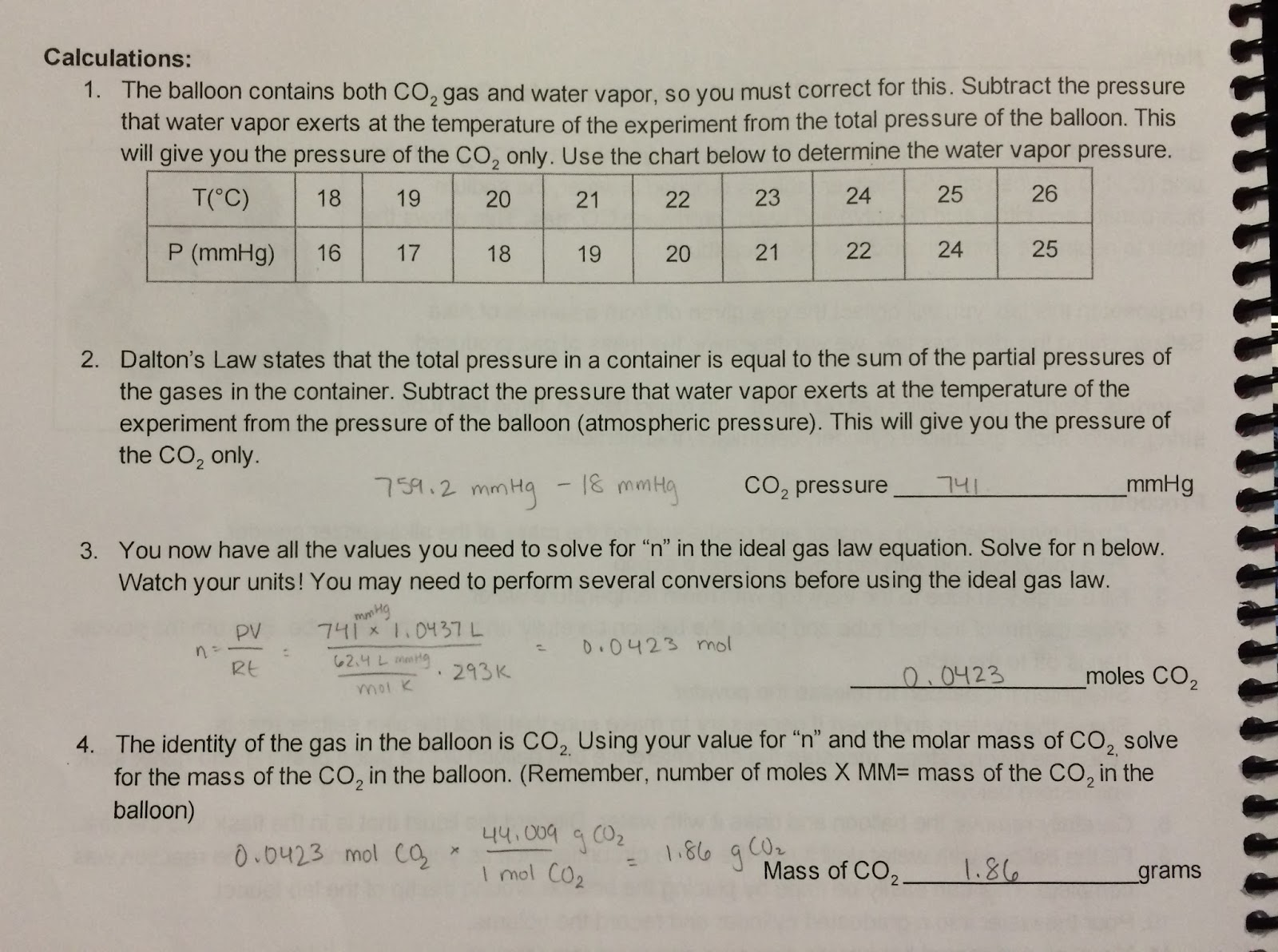 lab report ideal gas law Gas laws simulation (7 favorites) this simulation is intended for students to practice completing the gas law calculations pre-lab questions: 1 a.