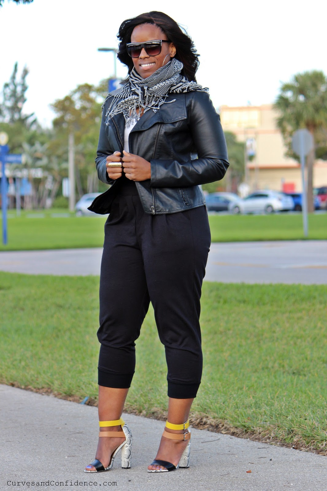 Weekend Wear Sweats and Heels - Curves and Confidence
