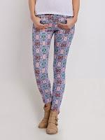 Pantaloni casual, stramti, multicolori (Top Secret)
