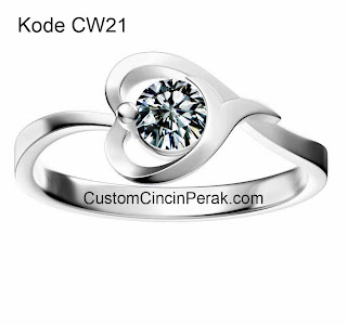 Model Cincin Perak Perempuan CW21