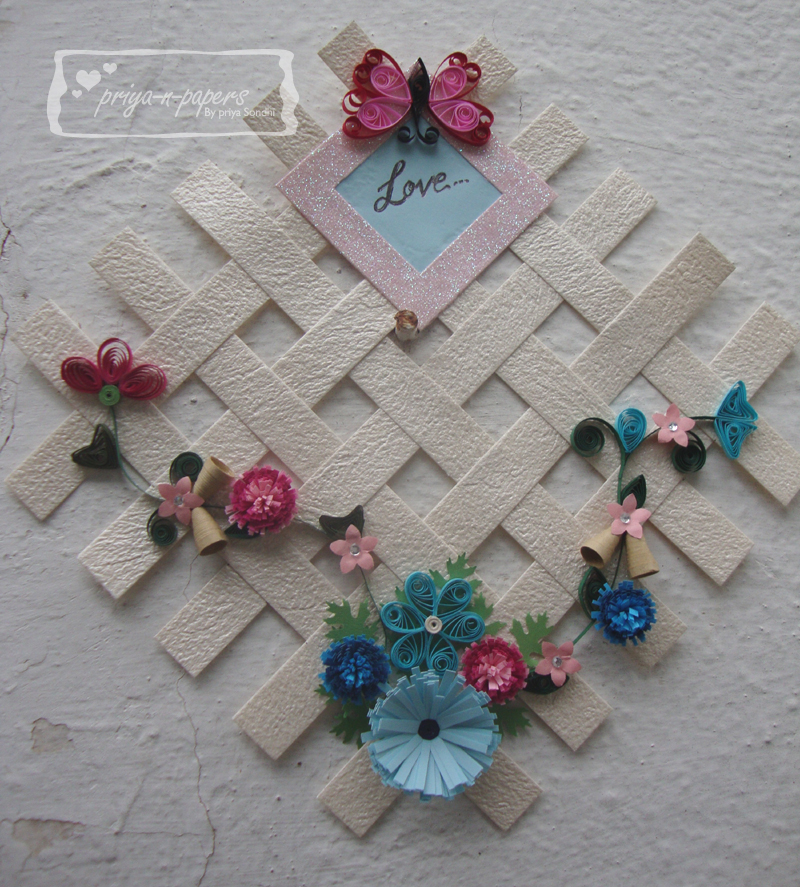 priya and papers quilling wall hanging