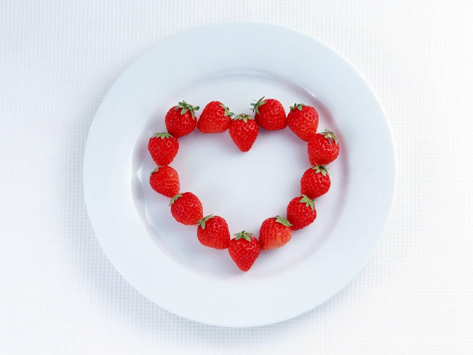 Photos cœurs l'amour de fraises