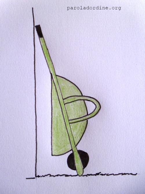 lastanzaverdedicri disegno carriola
