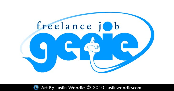 Freelance Job Genie Logo By Justin Woodie