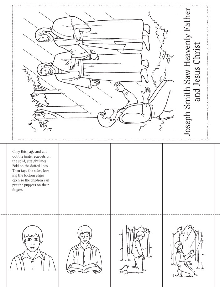 Joseph Smith First Vision Coloring Page Free Coloring Pages Lds Primary Joseph Smith Coloring Pictures
