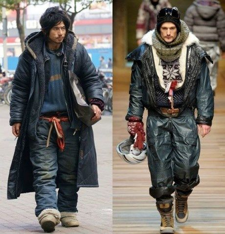 Beggar in China VS Model