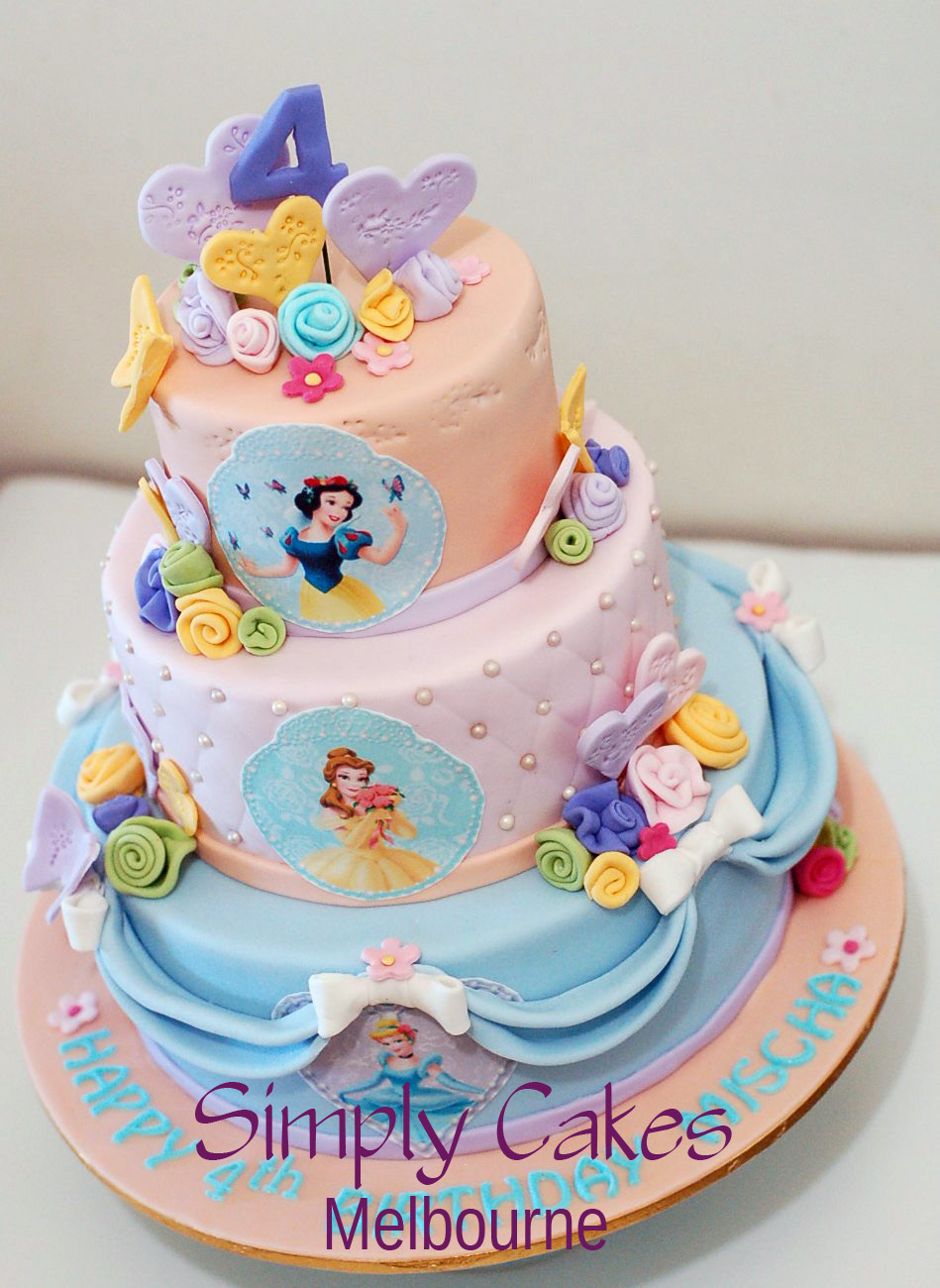 Disney Cake Designs : Simply Cakes Melbourne: Disney princess Cake