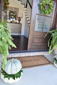 Fall Front Porch and Foyer