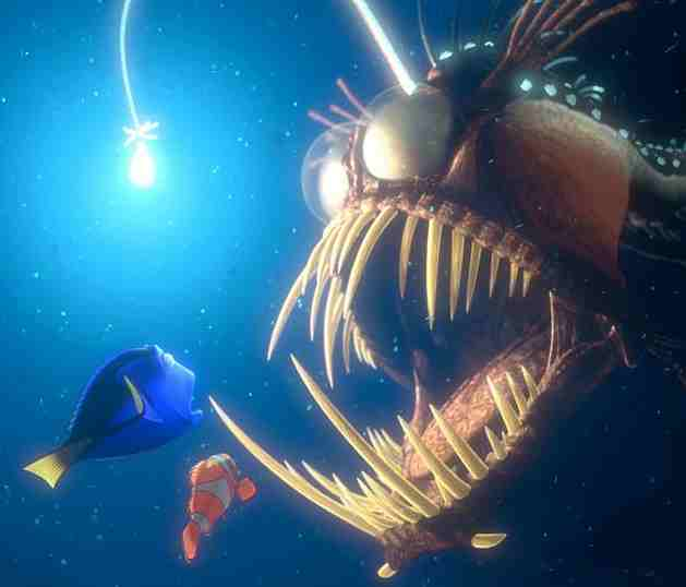 Finding Nemo Angler Fish http://ugly-animals.blogspot.com/2011/08/angler-fish.html