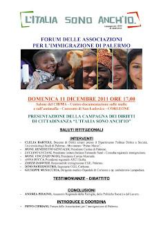 """Corleone, domenica 11 dicembre: """"L'Italia sono anch'io."""""""