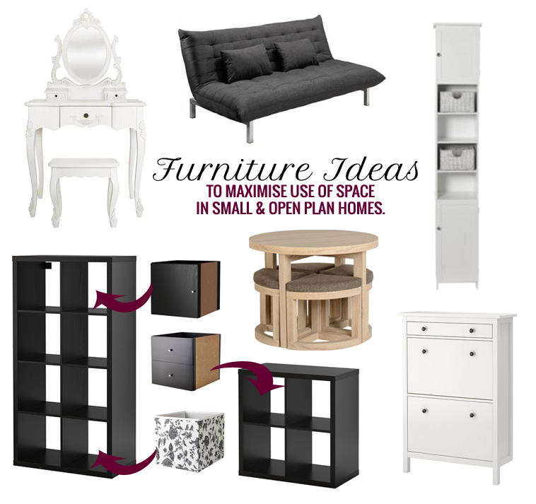 Furniture Ideas To Maximise Use Of Space In A Small and Open Plan Home