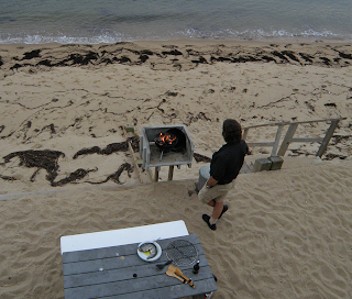 Bruce Grilling at the Beach