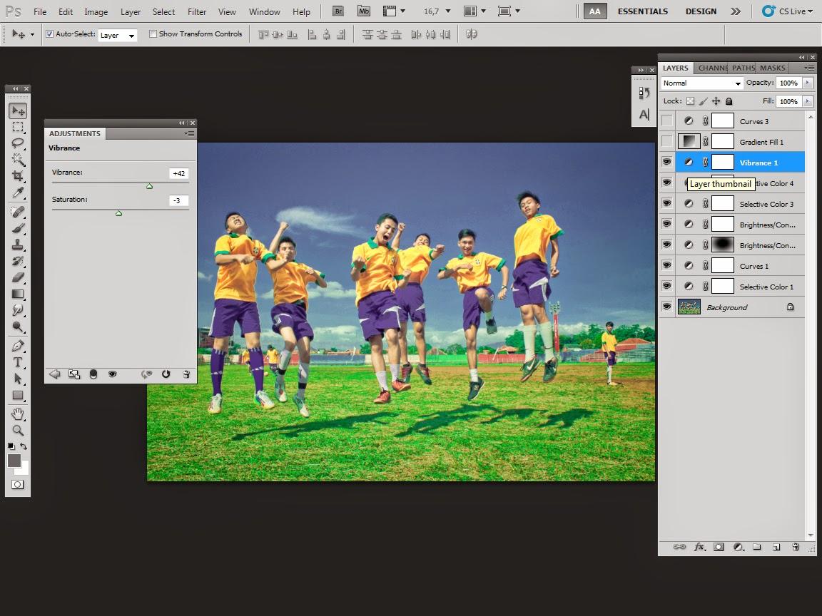 Mengatur cahaya photo dengan Photoshop