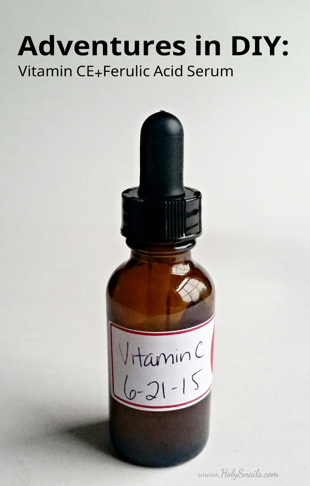 Adventures in DIY:  Vitamin C E + Ferulic Acid Serum