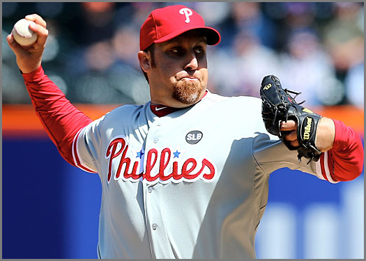 Aaron Harang aims to halt Phillies' skid at six.
