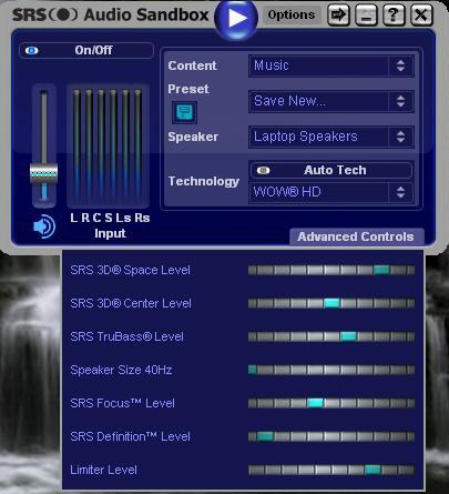 برنامج SRS HD Audio Lab Gold لرفع وتنقية صوت سماعات الاب توب حتي 300%