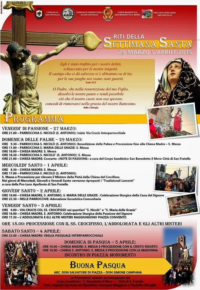 Settimana Santa a San Fratello