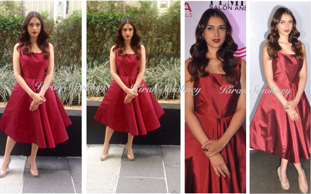 Aditi Rao Hydari at Femina Salon & Spa Issue unveiling in Neha Taneja