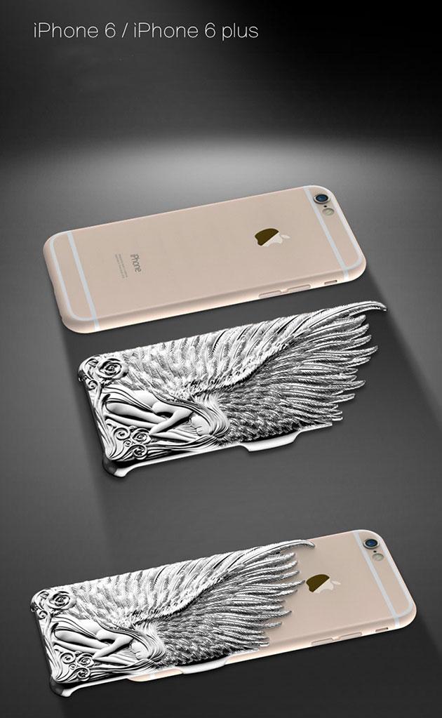เคส bumper รุ่น angel wing สำหรับ iPhone 6 สีเงิน