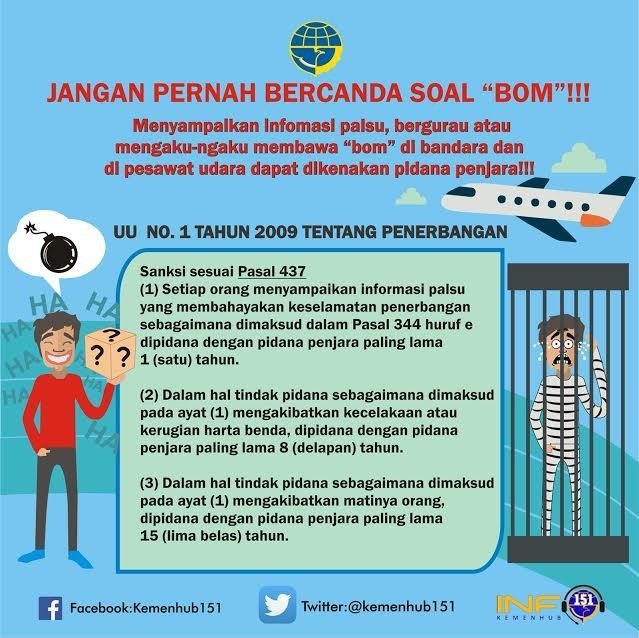 Jangan Bercanda Soal Bom di Pesawat, Ini Pidana yang Mengancam