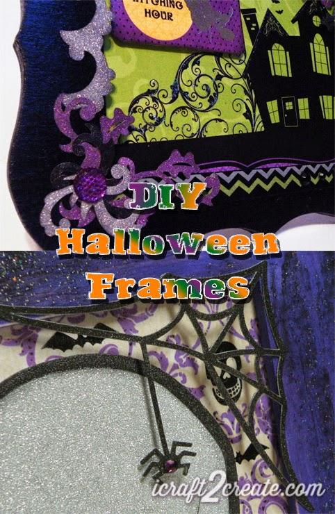 Halloween, SVGCuts, DCWV, Lettering Delights, DIY, frame