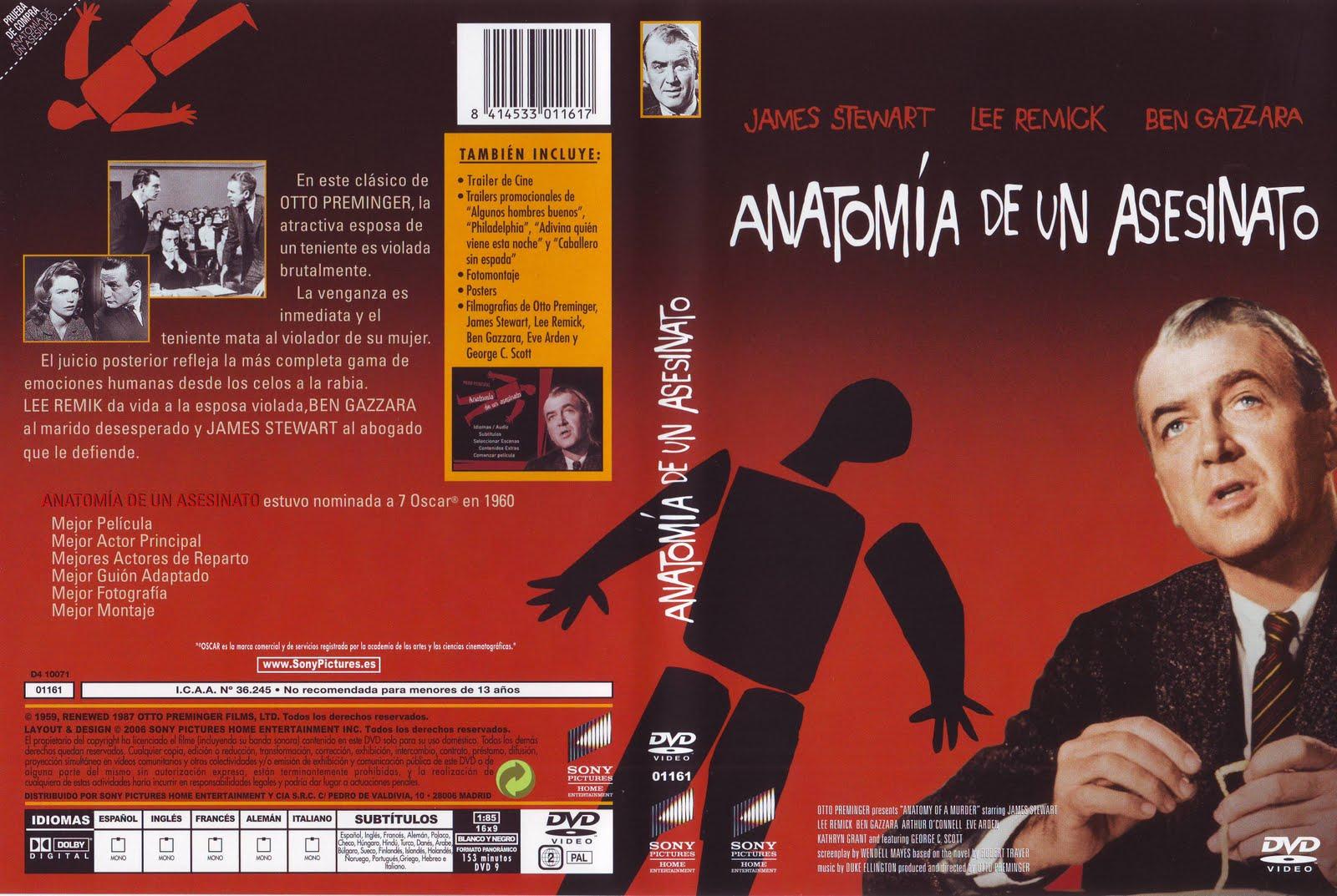Lujoso Anatomía De Un Asesinato Dvd Patrón - Imágenes de Anatomía ...