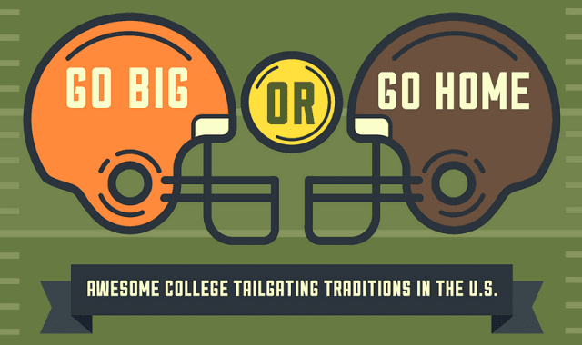 go big or go home tailgating traditions in the us infographic visualistan. Black Bedroom Furniture Sets. Home Design Ideas