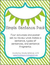 https://www.teacherspayteachers.com/Product/Simple-Sentence-Review-Pack-845075