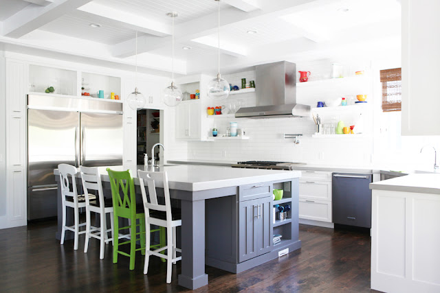 Brooke Jones Designs Kitchen Concrete Countertops Subway Tile Floating Shelves