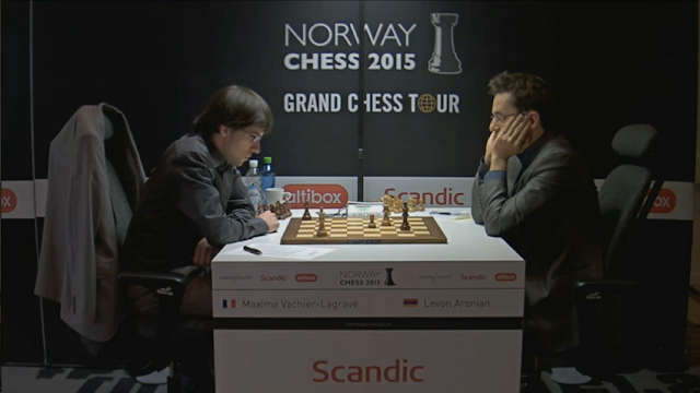 Norway Chess 2015 - Maxime Vachier-Lagrave - Levon Aronian