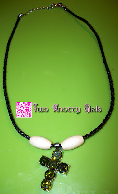 Handmade Necklace - Green Peridot with Natural Wood Beads