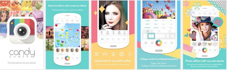 Aplikasi Kamera Android Terbaik - Candy Camera - Selfie Selfies