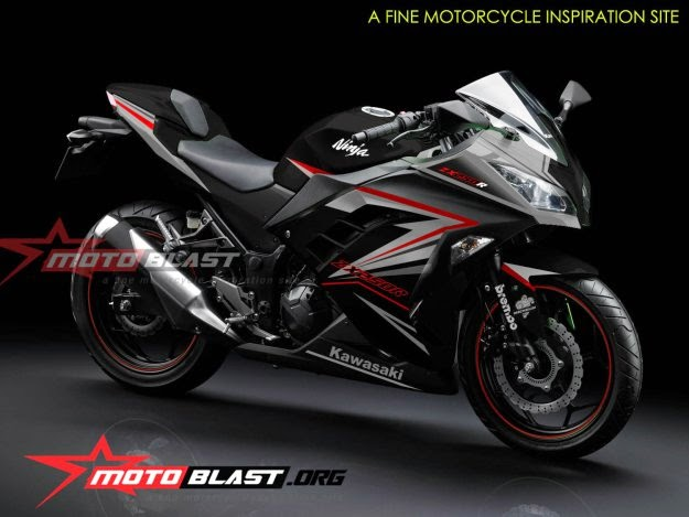 modif striping ninja 250r fi black