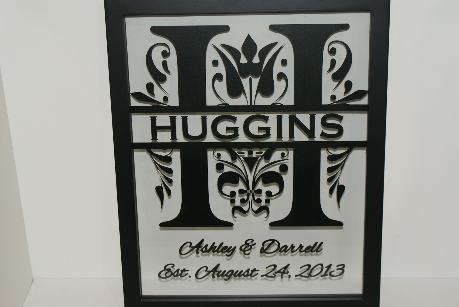 the final choice is the 12 x 12 blackbrown frame with your choice of background colour