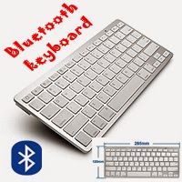 Ultra thin Slim Bluetooth 2.0 Wireless Keyboard Keypad.