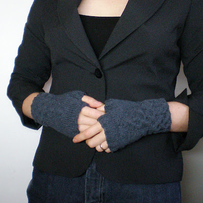 dark grey gothic fingerless gloves wrist warmers arm warmers