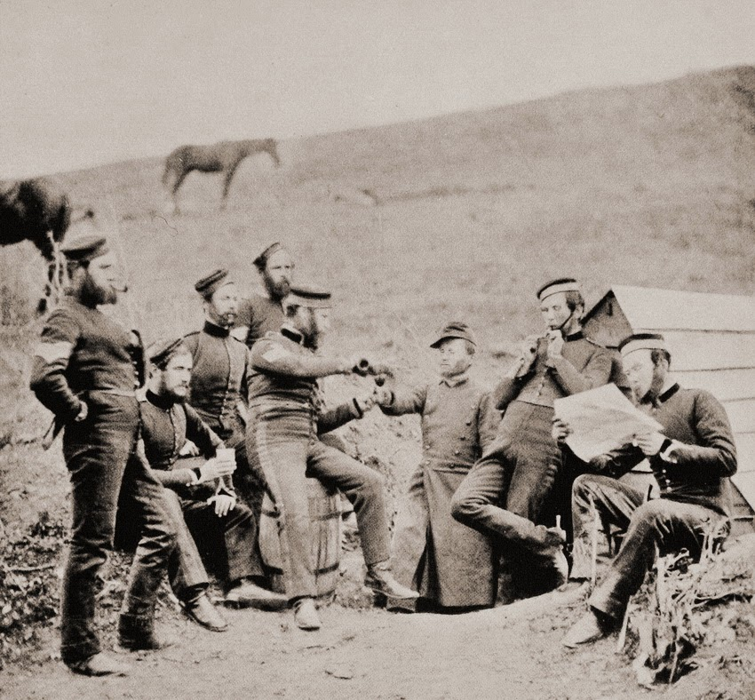 Crimean War, Sebastopol 1855 (French and English soldiers meet and ...
