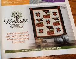 'My Crow Garden' kits available through Keepsake Quilting!