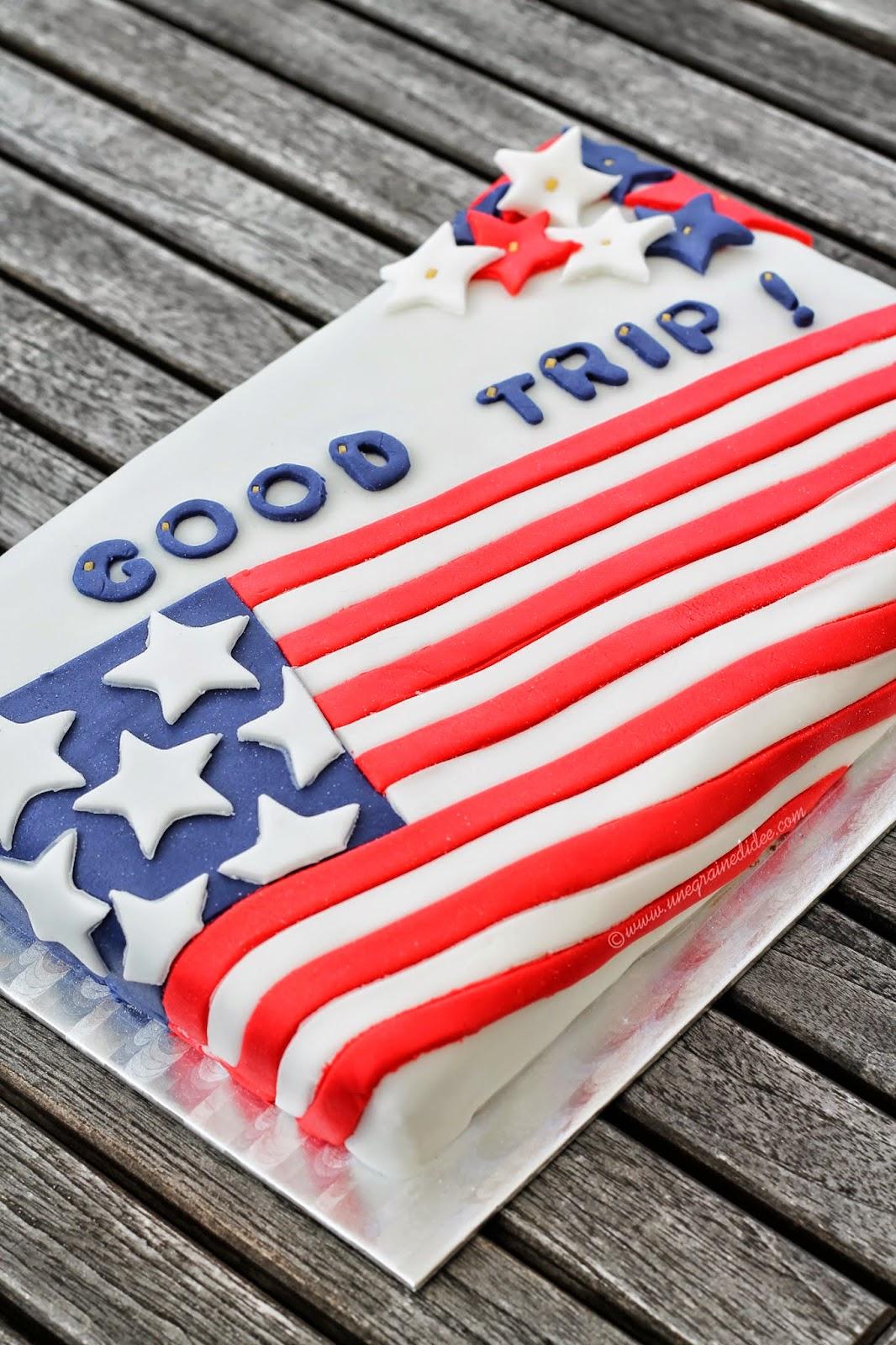 """Cake Drapeau Américain """"Good Trip"""" - Une Graine d'Idée"""