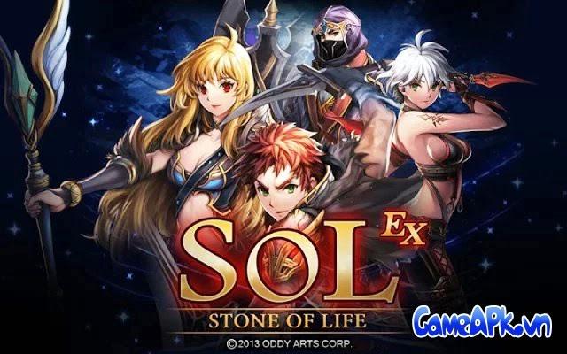 S.O.L : Stone of Life EX v1.2.2 hack full tiền, đá quý & skill cho Android