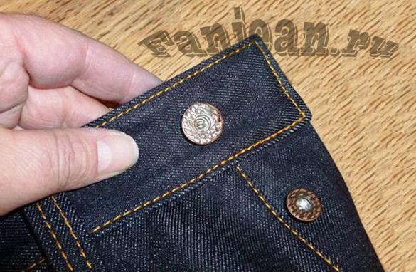 Ремонт пуговицы на джинсах своими руками 31