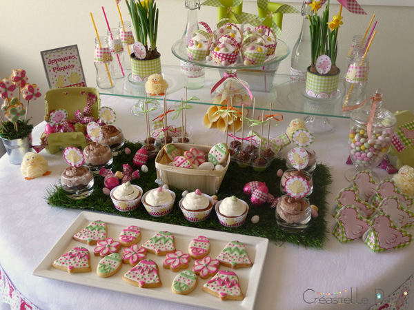Easter garden party sweet table