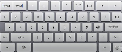 iwriter hindi language keypad