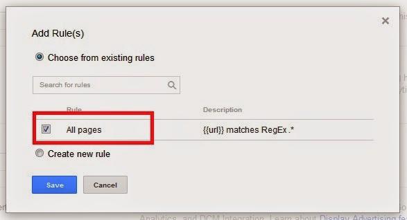 Universal Analytics Tag Rule